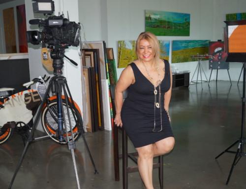 """Nina Torres Fine Art at """"Rostros de Nuestra Ciudad"""" Telemundo 51"""